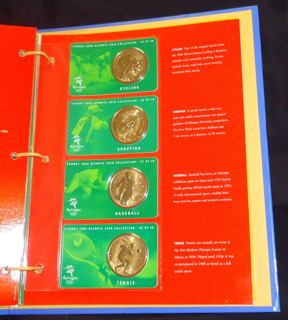 2000 $5 Sydney Olympic Coin Collection Coin Number 2-28 Aquatics Free Ship USA